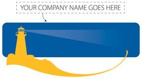 Логос маяка Стоковые Изображения
