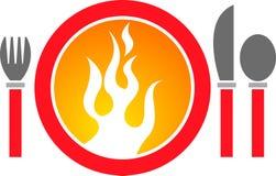 логос обеда горячий Стоковая Фотография RF