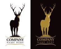 Логос оленей рогача иллюстрация штока