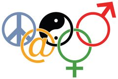 логос олимпийский Стоковая Фотография RF