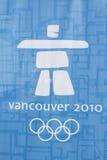 логос олимпийский vancouver стоковое фото
