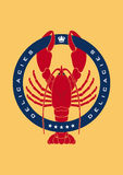 логос омара деликатностей Стоковое фото RF