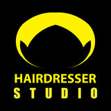 логос парикмахера Стоковое фото RF