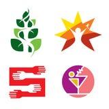 Логос партии Стоковая Фотография RF