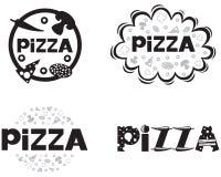 Логос пиццы Стоковые Изображения
