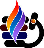 логос пламени стильный Стоковые Изображения RF
