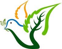 Логос птицы листьев Стоковая Фотография RF