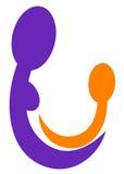 логос ребенка внимательности Стоковое фото RF
