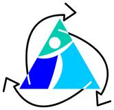 логос рециркулирует Иллюстрация штока