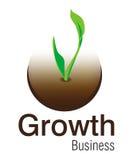 логос роста дела Стоковое фото RF