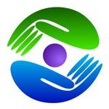 логос руки иллюстрация штока