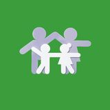 логос семьи Стоковое Фото