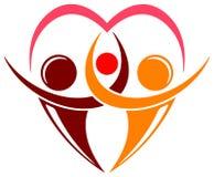 Логос семьи Стоковые Фотографии RF