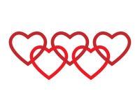 логос сердец Стоковое фото RF