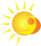 Логос Солнця Стоковое фото RF