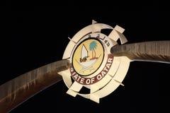 Логос Стате Оф Цатар стоковое фото