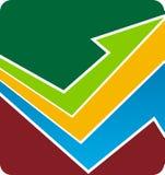 логос стрелки Стоковые Изображения RF