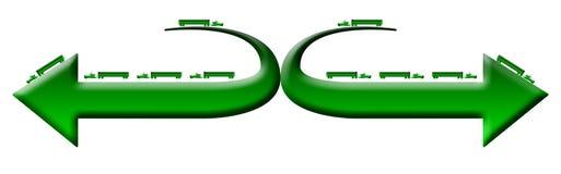 Логос тележек Уилера зеленого цвета 18 Стоковые Фото