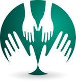 Логос ухода за ребенком бесплатная иллюстрация