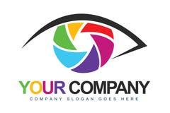 Логос фотографа Стоковое Изображение