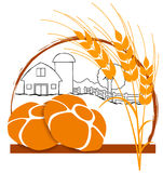 логос хлебопекарни Стоковое Изображение RF