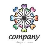 Логос звезды от сердца Стоковая Фотография
