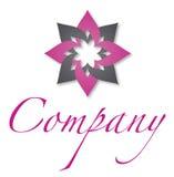 логос цветка Стоковое Изображение