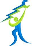 Логос человека обслуживания механика Стоковая Фотография