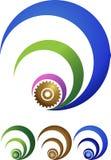 логос шестерни иллюстрация штока