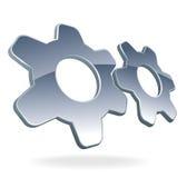 логос шестерни Стоковые Фотографии RF