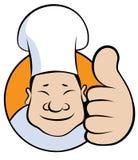логос шеф-повара шаржа Стоковая Фотография