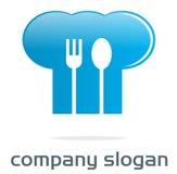 логос шлема шеф-повара Стоковое Изображение