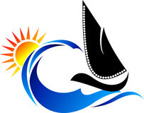 логос шлюпки Стоковое фото RF
