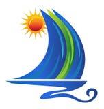 Логос шлюпки Стоковая Фотография RF