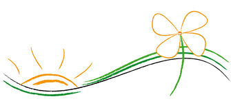 логос экологичности Стоковое Изображение RF