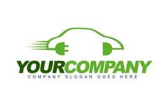Логос электрического автомобиля Стоковая Фотография RF