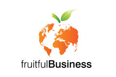 логос дела плодовитый Стоковое фото RF