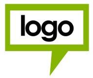 логос 2 говорит шаблон Стоковая Фотография RF