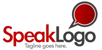 логос 4 говорит шаблон Стоковые Изображения
