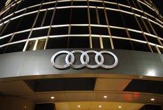 Логос Audi Стоковое Изображение RF