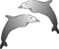 логос dolfhin Стоковые Фотографии RF