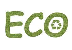 логос eco Стоковое фото RF