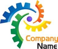 Логос Gearwheel Стоковые Изображения RF