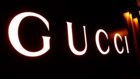 Логос Gucci стоковое фото rf