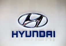 логос hyundai Стоковое фото RF