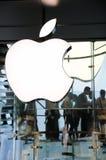 логос inc яблока Стоковое Изображение RF