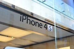 логос iphone 4s стоковое фото rf