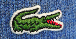 логос lacoste Стоковое фото RF