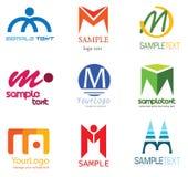логос m письма Стоковые Фотографии RF