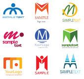 логос m письма иллюстрация штока